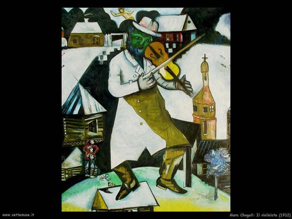 Marc Chagall il violinista 1912