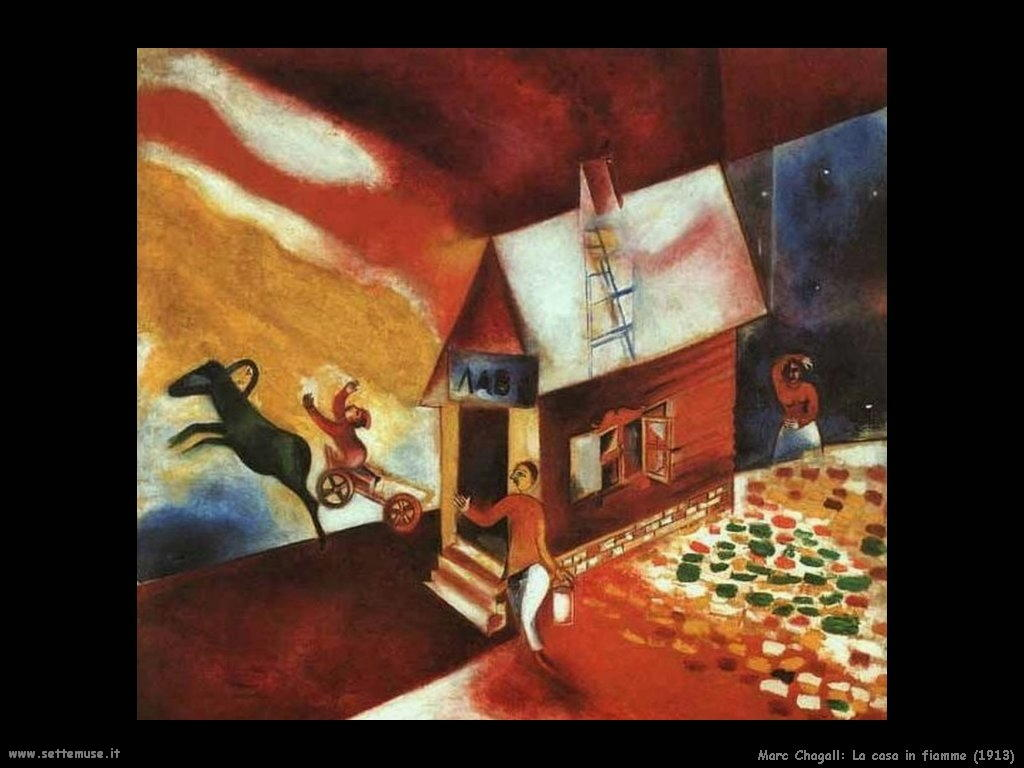Marc Chagall_casa_in_fiamme_1913