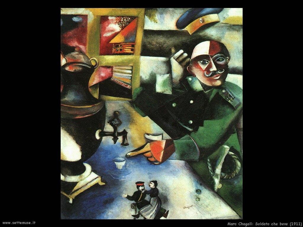 Marc Chagall soldato che beve 1911