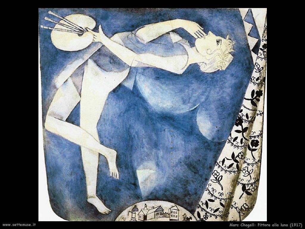 Marc Chagall_pittore_alla_luna_1917