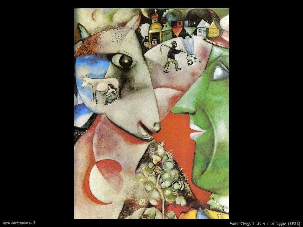 Marc Chagall io e il villaggio 1911