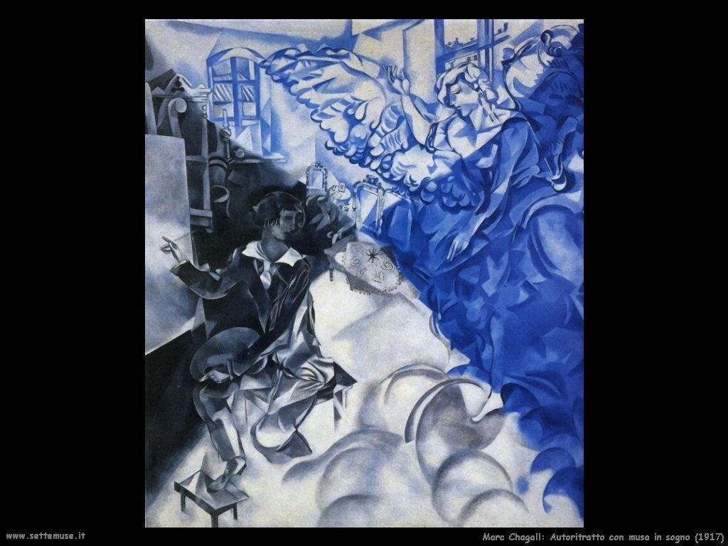 Marc Chagall_autoritratto_con_musa_sogno_1917