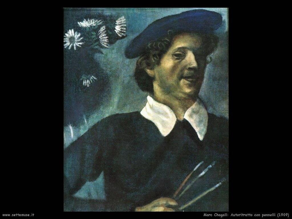 Marc Chagall_autoritratto_con_pennelli_1909