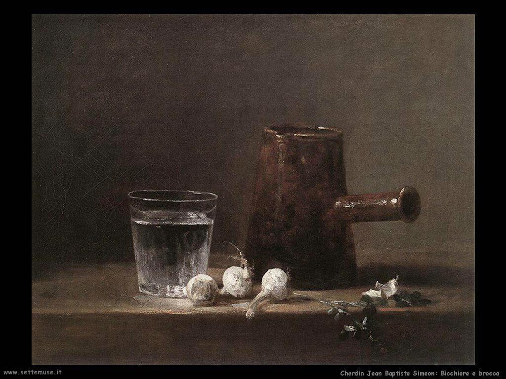 Bicchiere e brocca