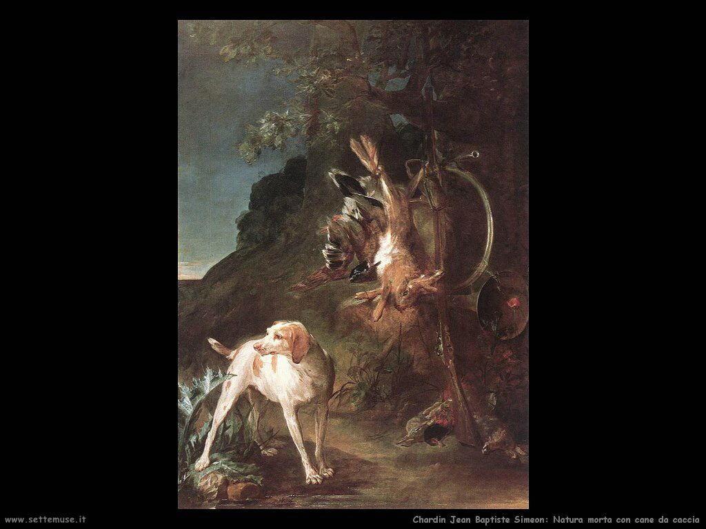 Natura morta con cane da caccia