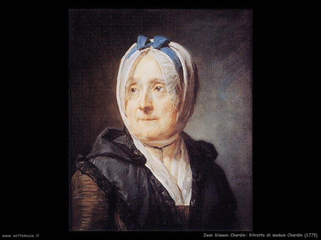 Jean Baptiste Chardin, Ritratto di madame Chardin (1775)