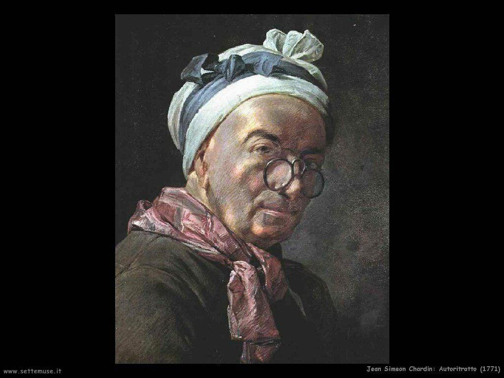 Jean Baptiste Chardin,  autoritratto 1771