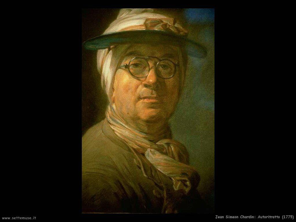 Jean Baptiste Chardin,  autoritratto 1775