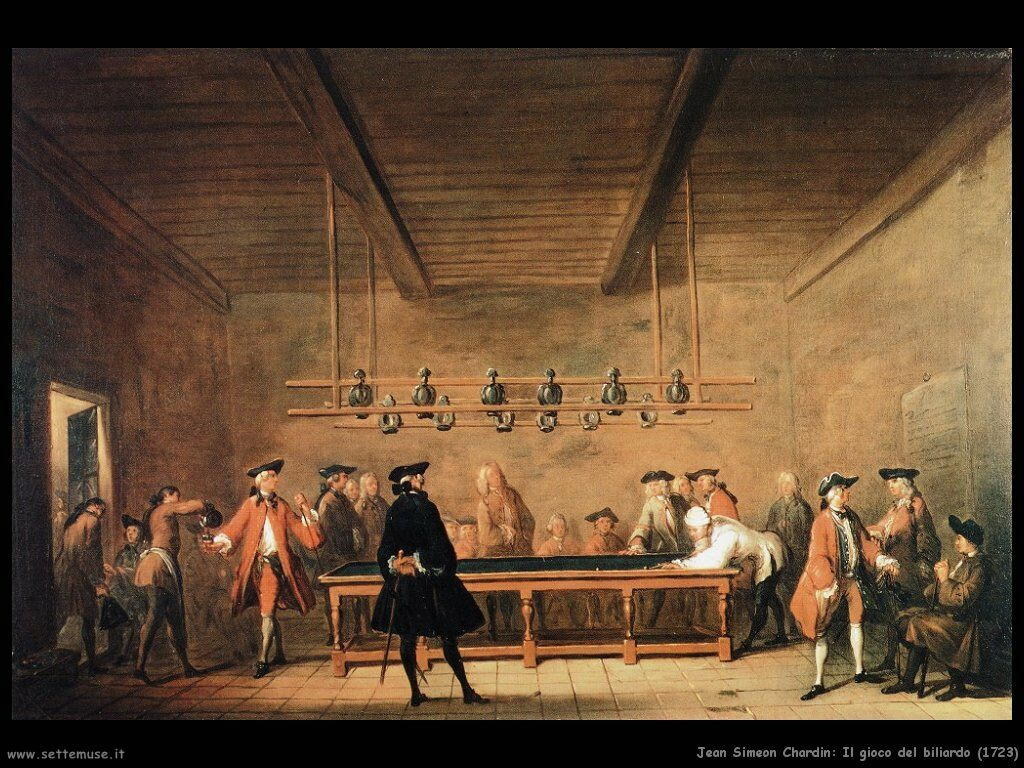 Jean Baptiste Chardin,  gioco del biliardo 1723