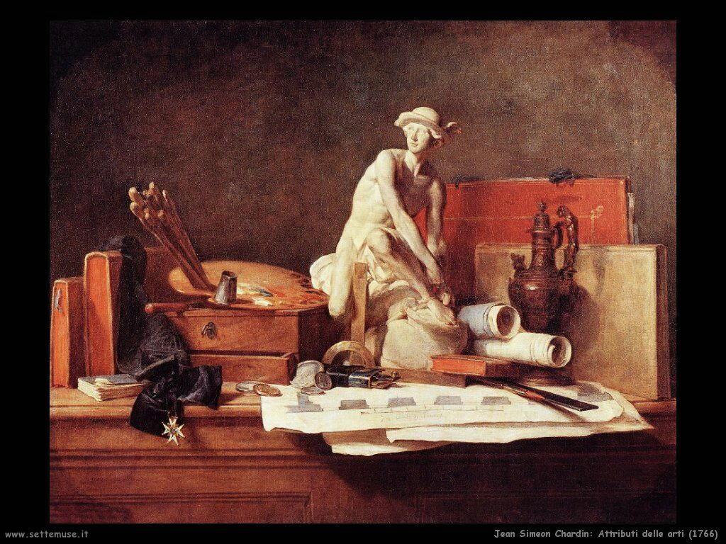 Jean Baptiste Chardin,  attributi delle arti 1766