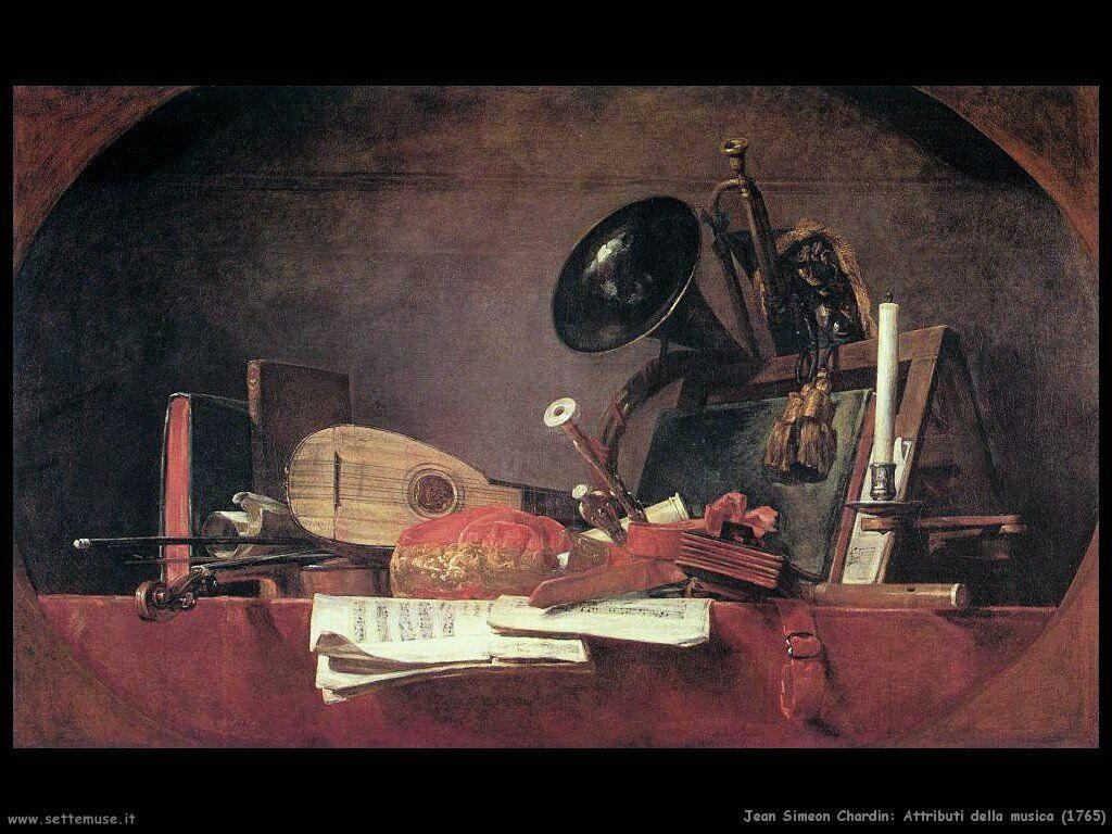 Jean Baptiste Chardin,  attributi della musica 1765