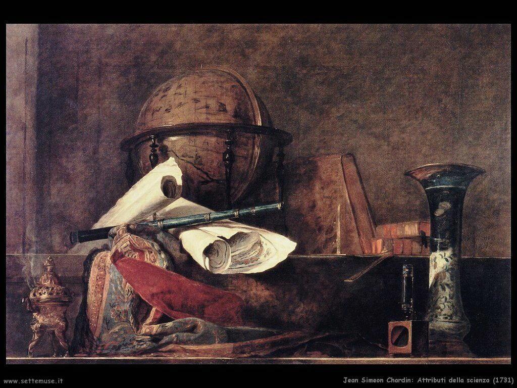 Jean Baptiste Chardin,  attributi della scienza 1731