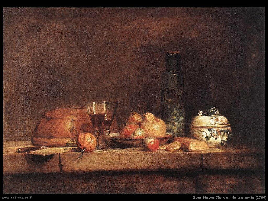 Jean Baptiste Chardin,  natura morta 1760