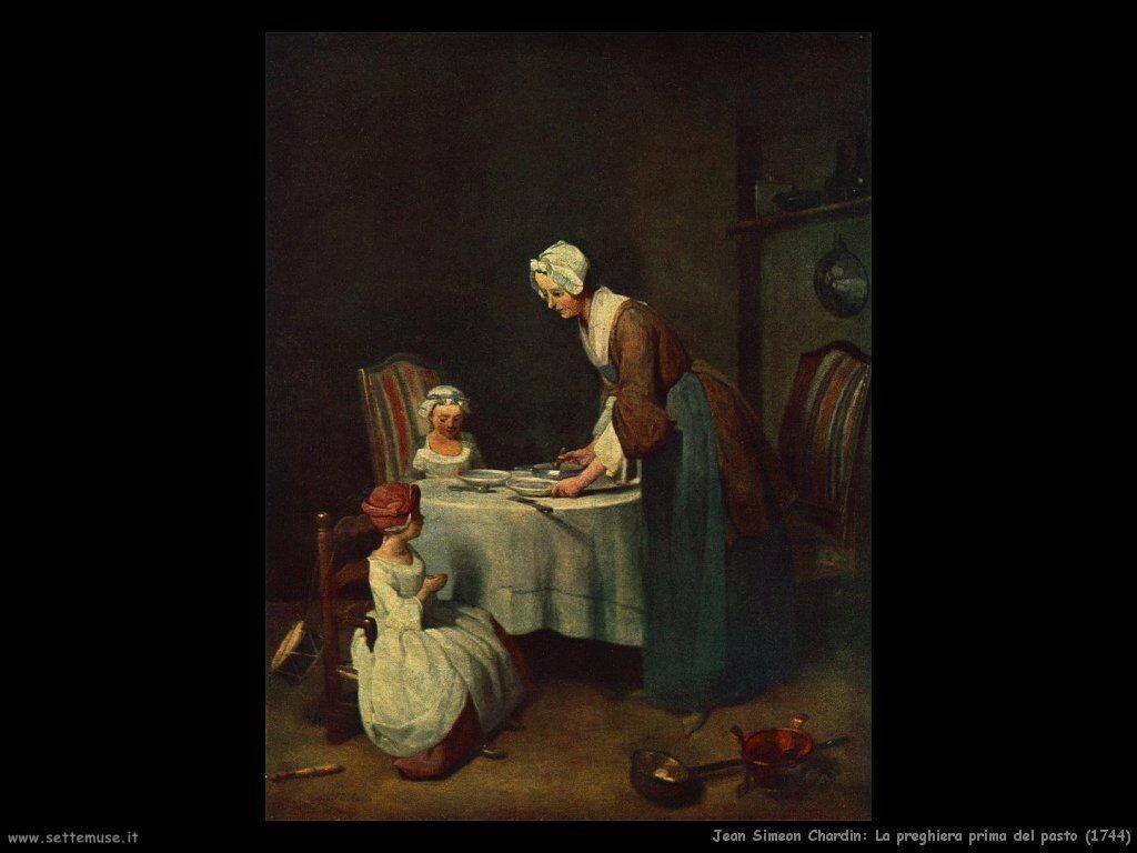 Jean Baptiste Chardin,  la preghiera prima del pasto 1744