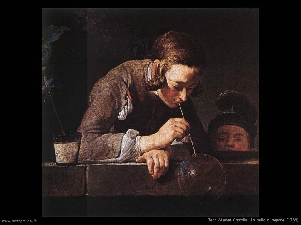 Jean Baptiste Chardin,  la bolla di sapone 1739