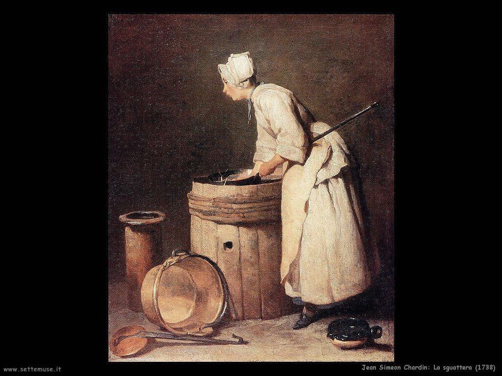 Jean Baptiste Chardin,  la sguattera 1738