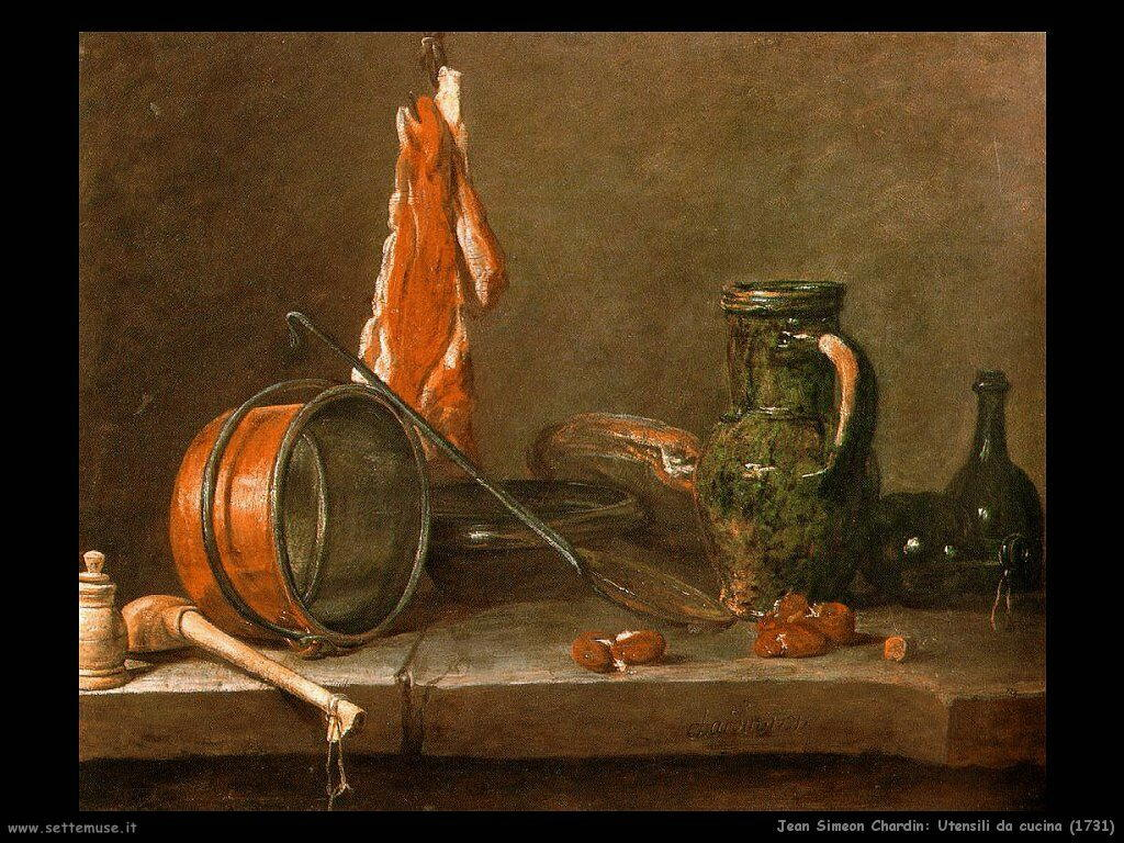 Jean Baptiste Chardin,  utensili da cucina 1731