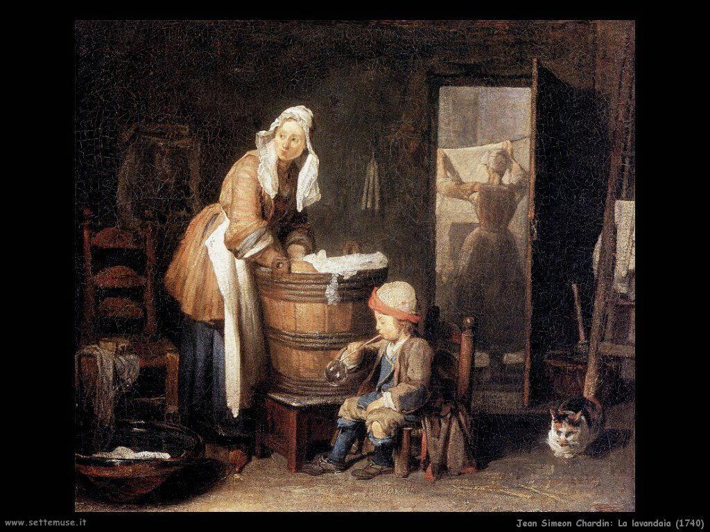 Jean Baptiste Chardin,  la lavandaia 1740