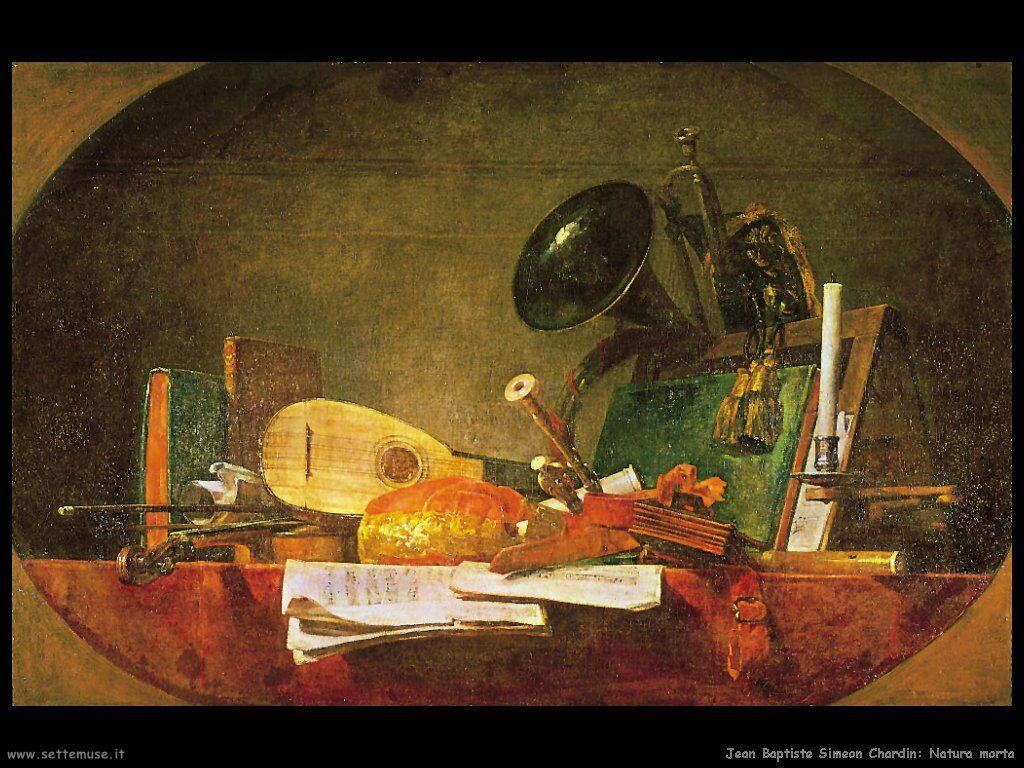 Jean Baptiste Chardin,  natura morta