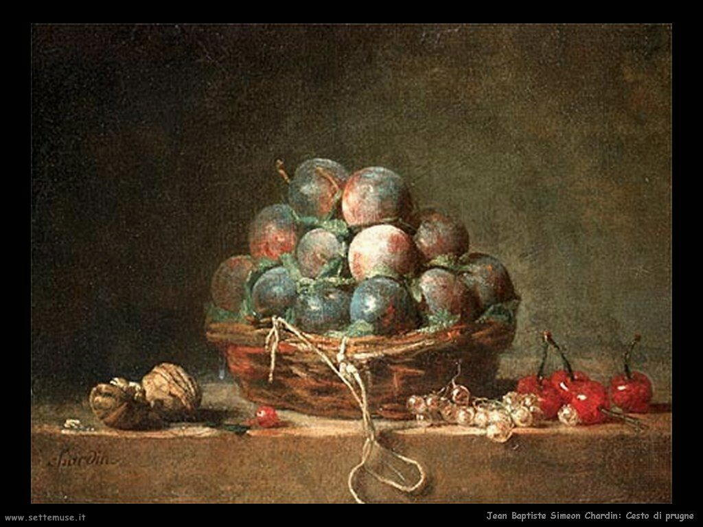 Jean Baptiste Chardin,  cesto di prugne