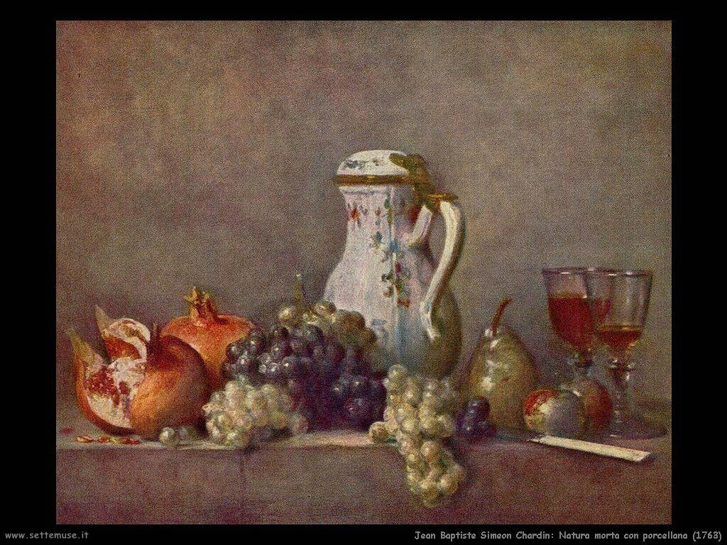 Jean Baptiste Chardin,  natura morta con porcellana 1763