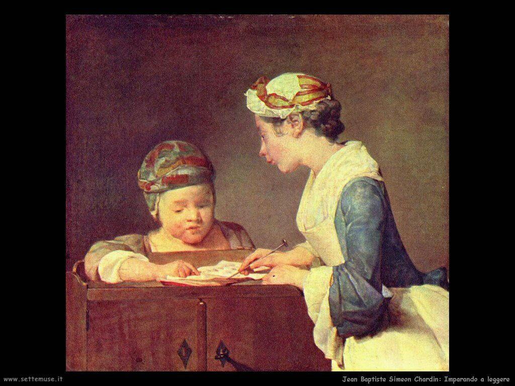 Jean Baptiste Chardin, Imparando a leggere