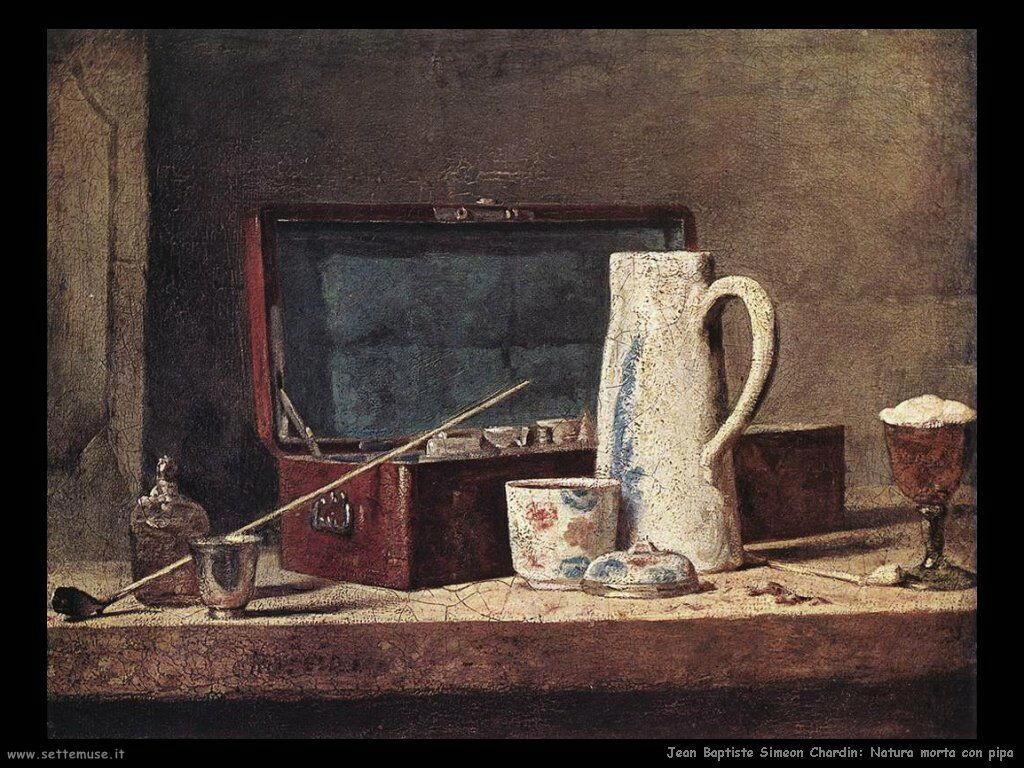 Jean Baptiste Chardin, Natura morta con pipa