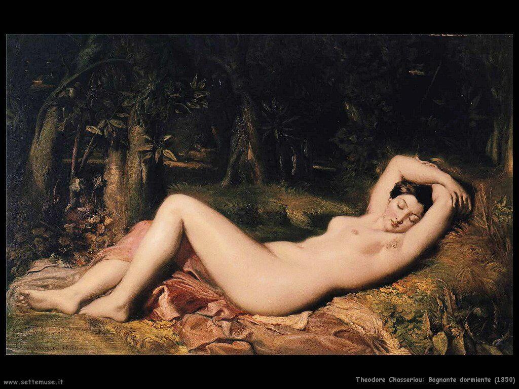 theodore_chasseriau_bagnante_dormiente_1850
