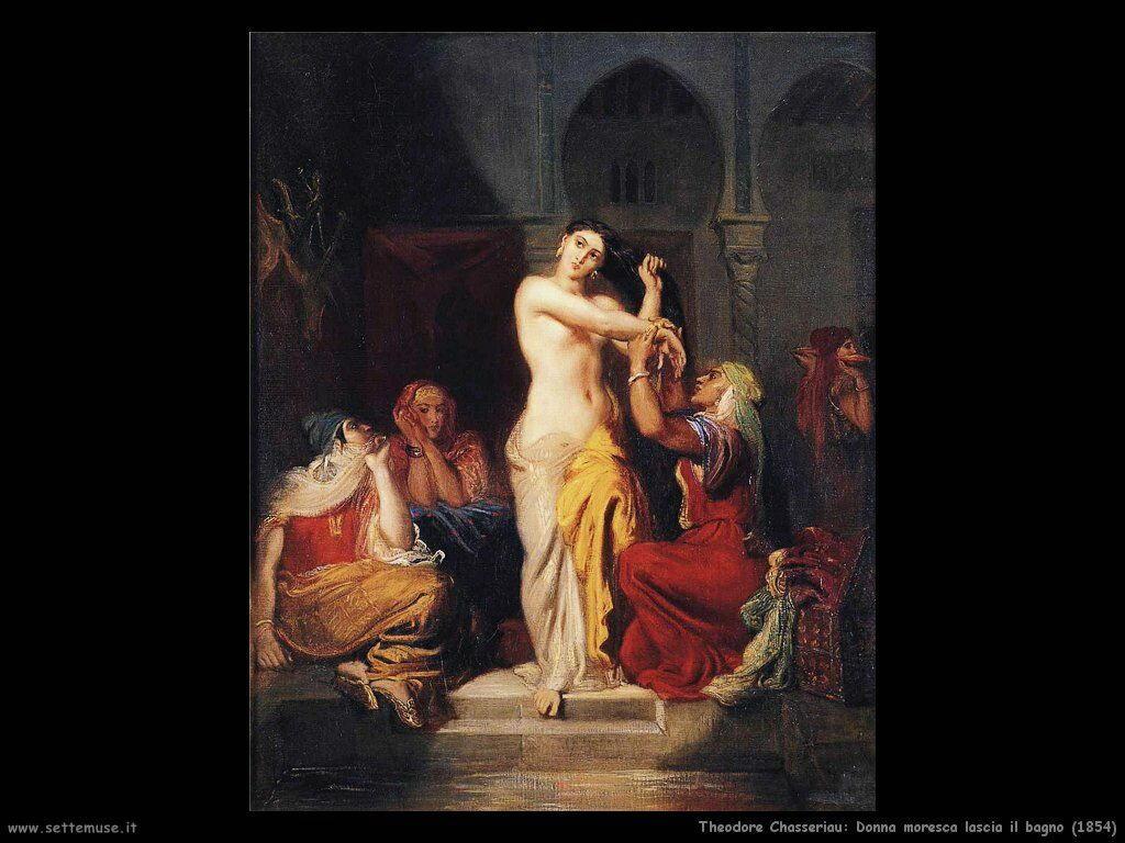 theodore_chasseriau_donna_moresca_lascia_il_bagno_1854