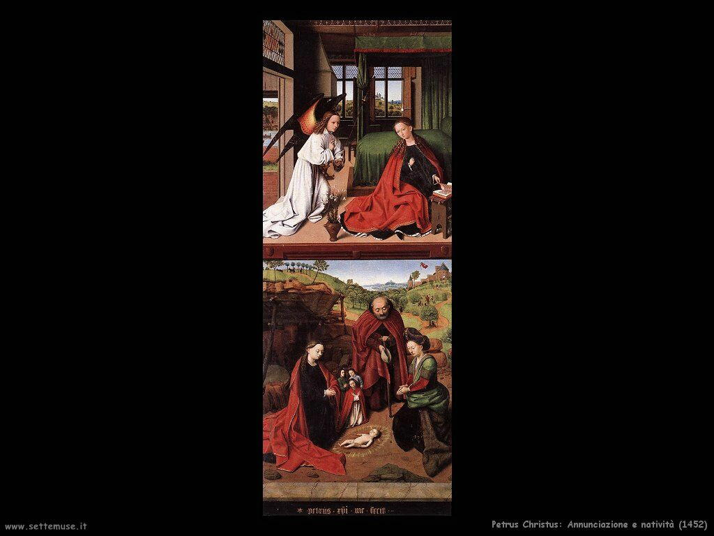petrus christus annunciazione_e_nativita_1452
