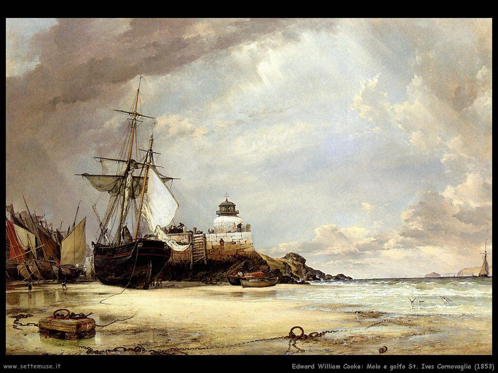 edward_william_cooke_molo_e_golfo_st_ives_cornovaglia_1853