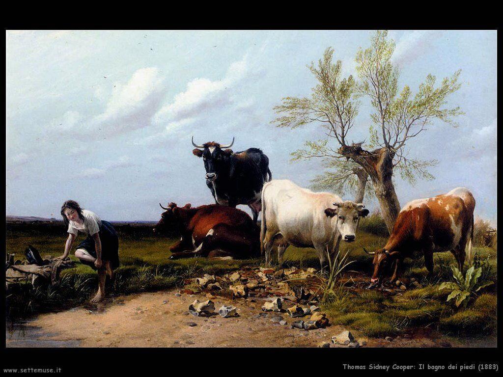thomas sidney cooper il_bagno_dei_piedi_1883