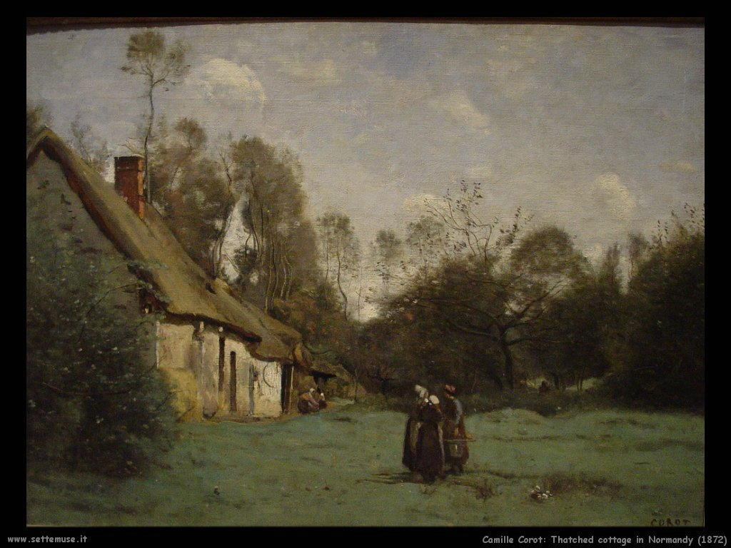 camille_corot_thatched _cottage_in_normady_1872