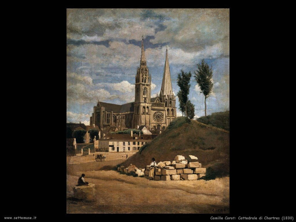 camille_corot_cattedrale_di _chartres_1830