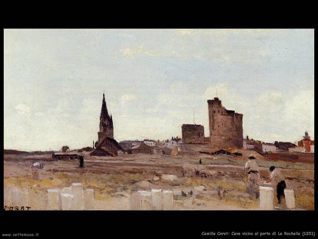 camille_corot_la_rochelle_cava_vicino_al_porto_1851