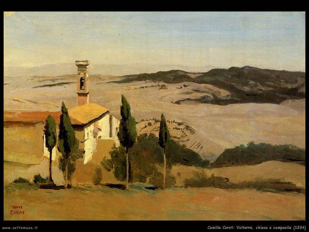 camille_corot_volterra_chiesa_e_campanile_1834