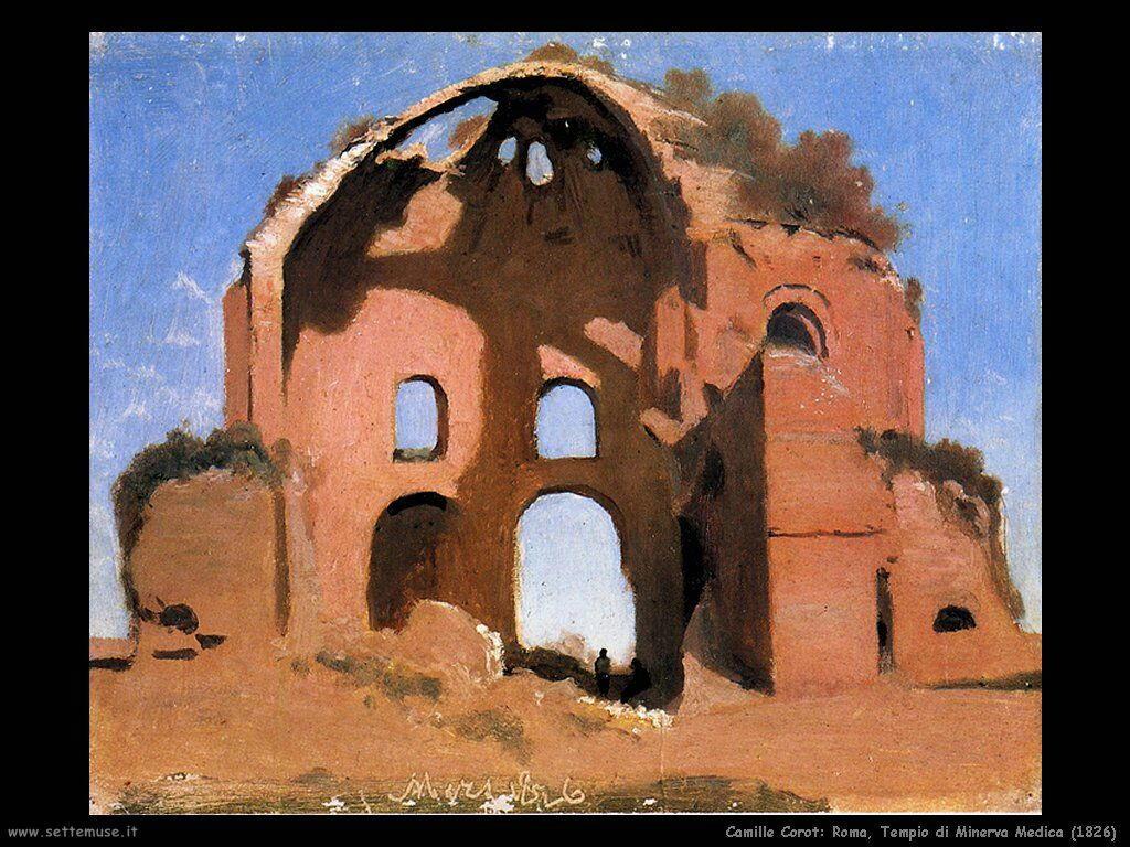 camille_corot_roma_tempio_minerva_medica_1826