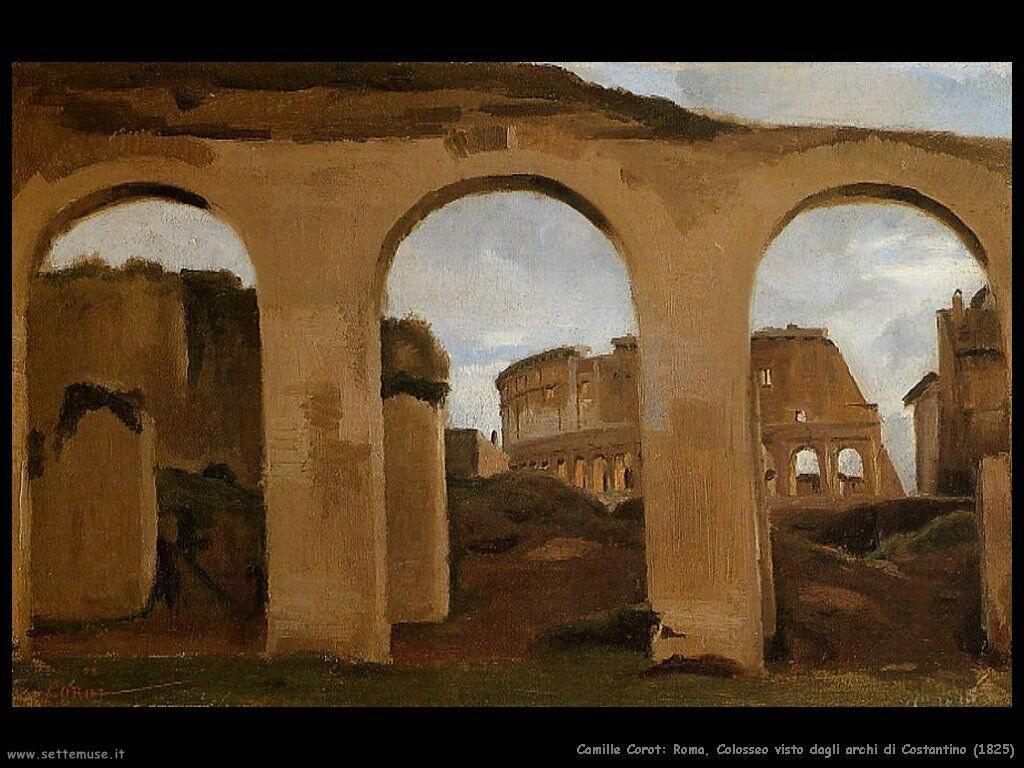 camille_corot_roma_colosseo_visto_da_archi_costantino_1825