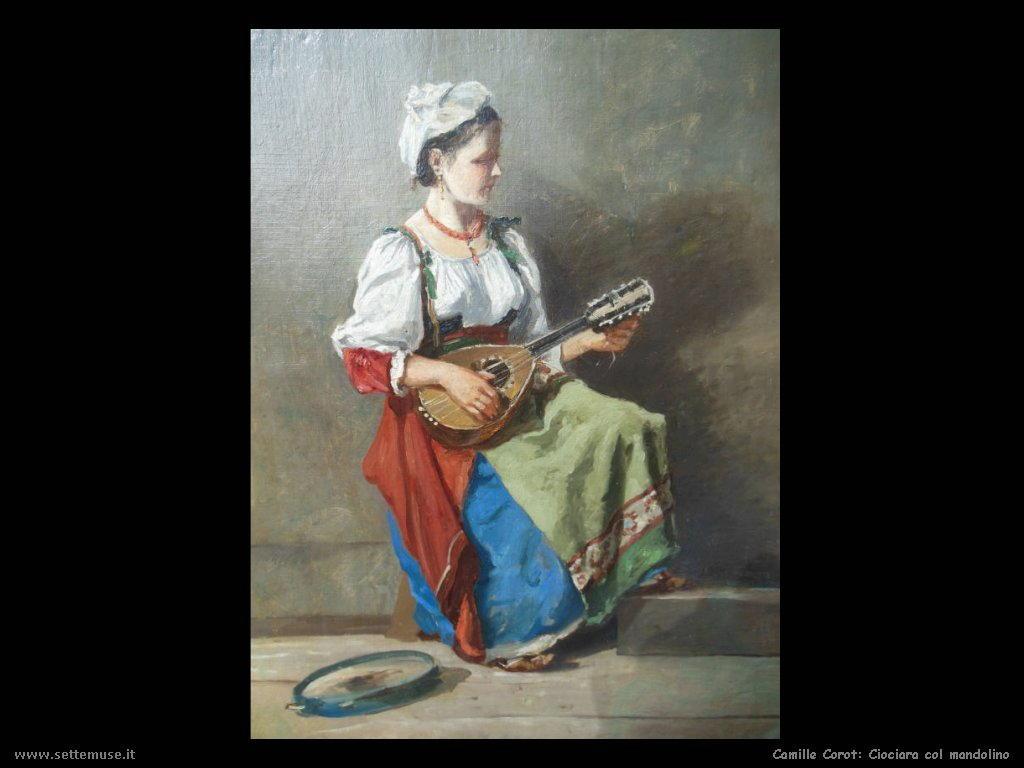 camille corot ciociara col mandolino