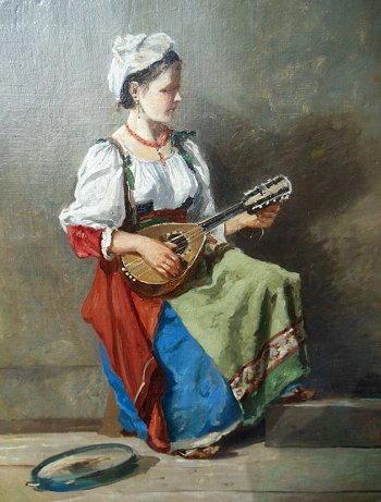 Ciociara col mandolino
