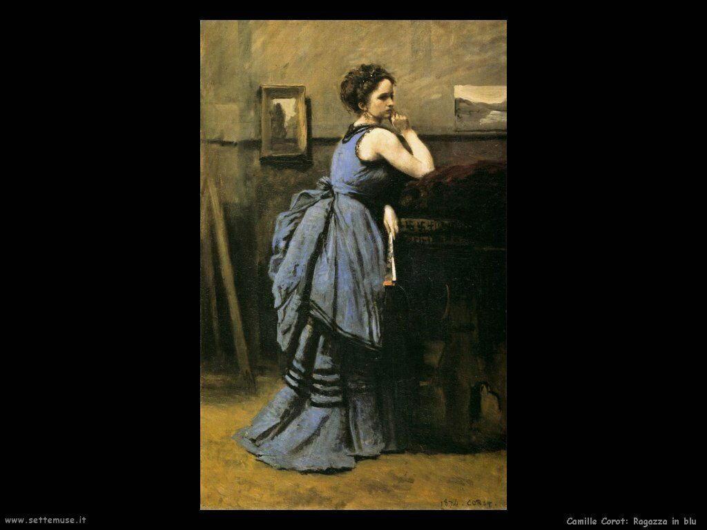 camille corot ragazza in blu