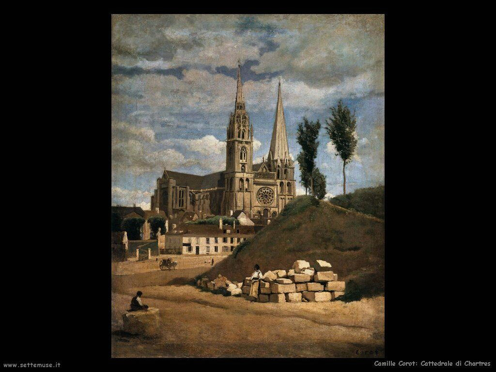 camille corot cattedrale di chartres