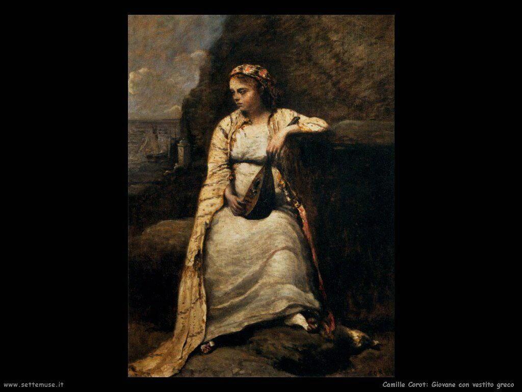 camille corot giovane con vestito greco
