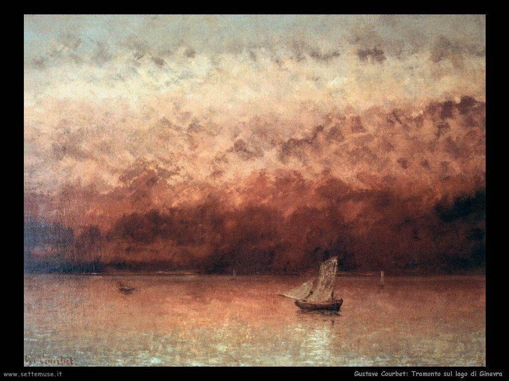 Tramonto sul lago di Ginevra