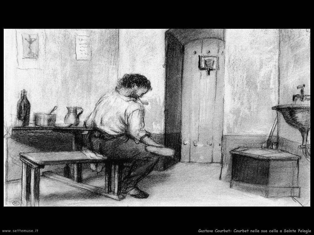 Courbet nella sua cella a Sainte Pelagie