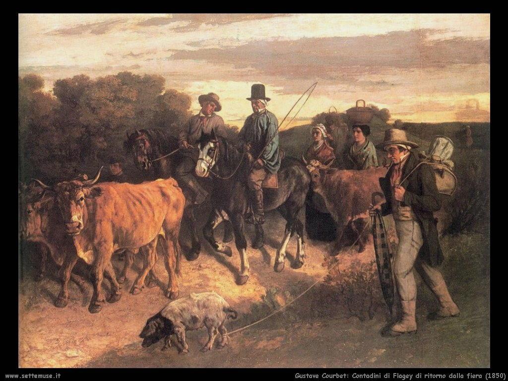 Contadini di Flagey ritornano dalla fiera (1850)