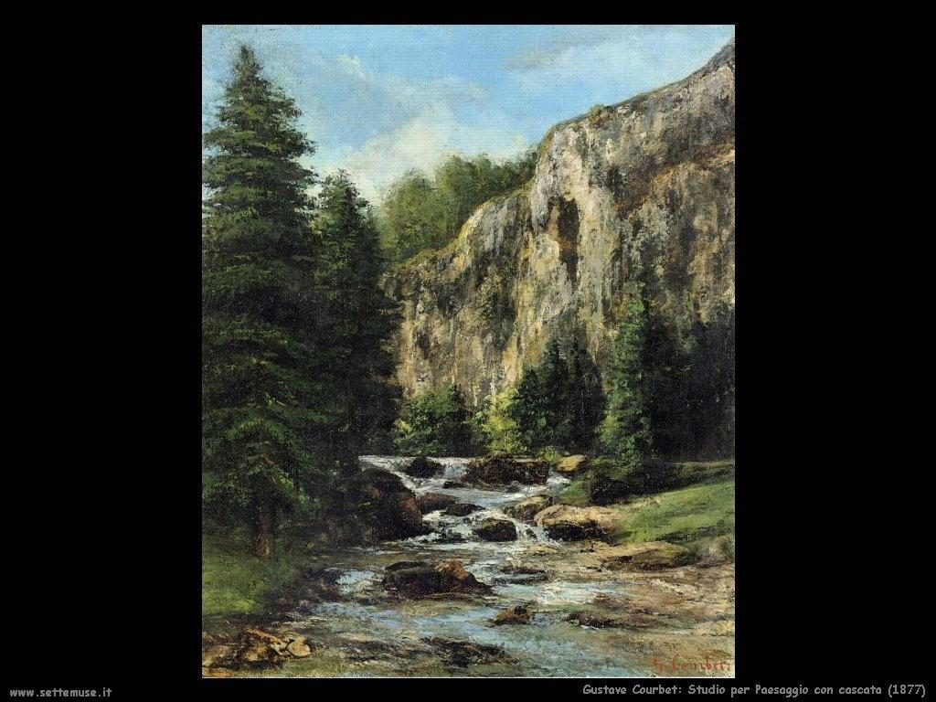 Studio per Paesaggio con cascata (1877)