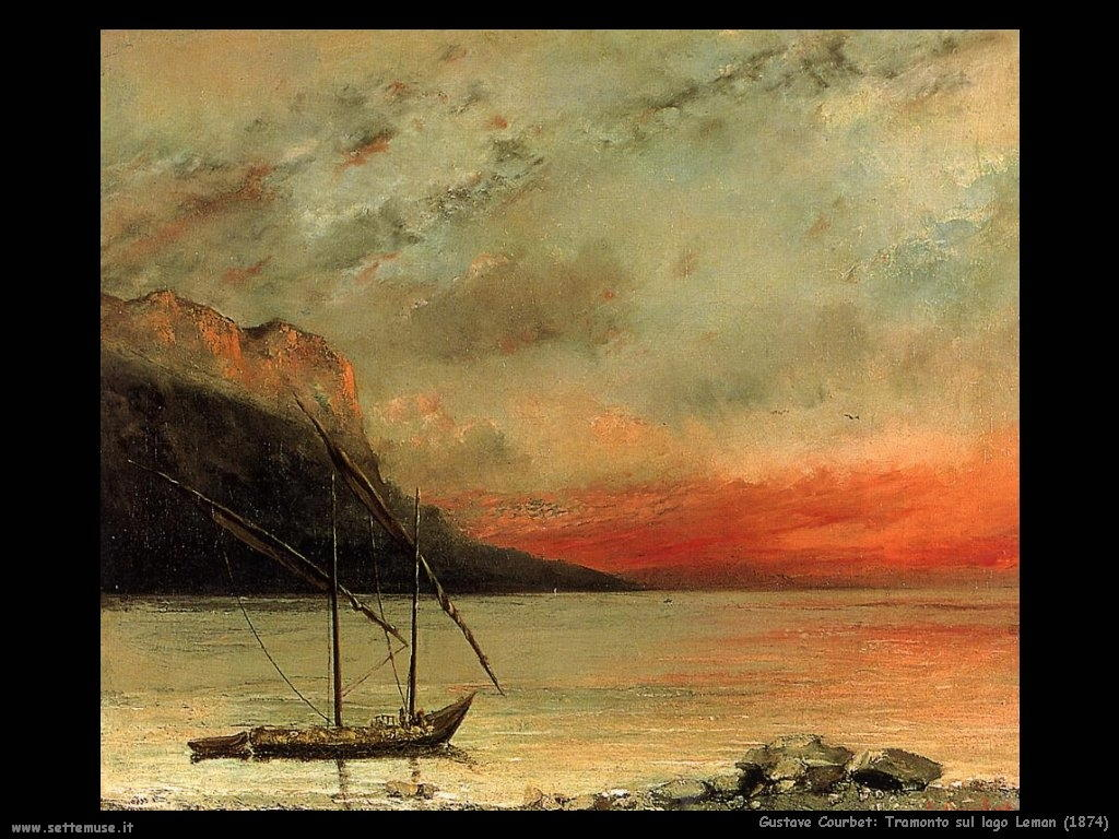 Tramonto sul lago Leman