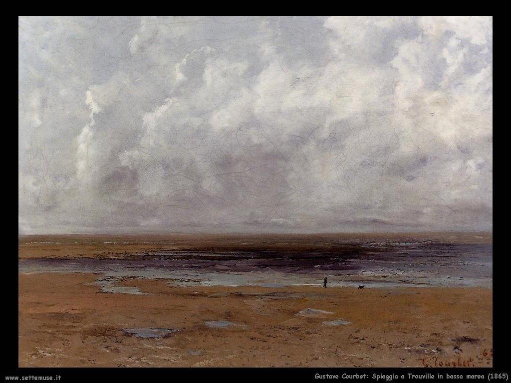 Spiaggia a Trouville in bassa marea (1865)
