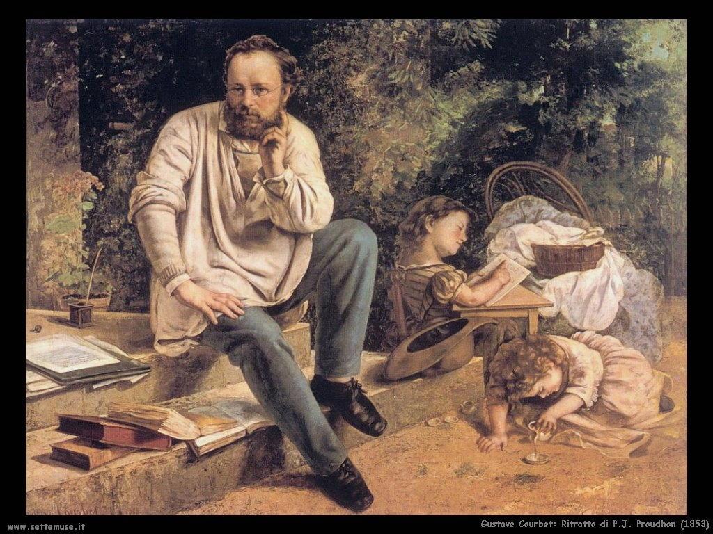 Ritratto di P.J. Proudhon (1853)